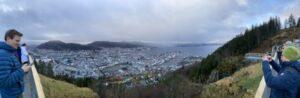 Ausblick vom Fløyen über Bergen