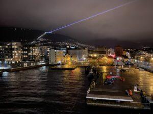 Panorama bei der Ausfahrt, Bergen, Norwegen