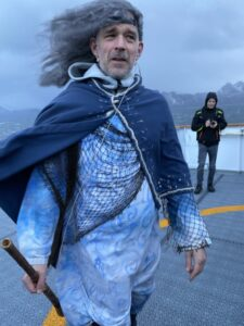 Neptun bei der Hurtigruten MS Nordnorge, Polarkreistaufe