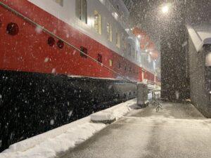 Hurtigruten MS Nordnorge am Hafen von Tromsø