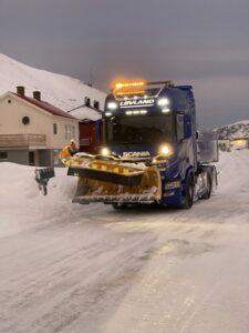 Magerøya, Honningsvåg, Norwegen, Schneefräse
