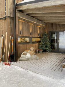 Eingang zum Snowhotel Kirkenes, Finnmark