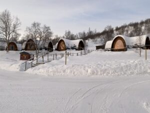 Cabins im Snowhotel Kirkenes, Finnmark