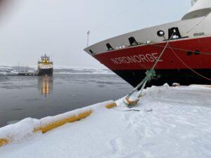 MS Nordnorge im Hafen von Kirkenes, Finnmark