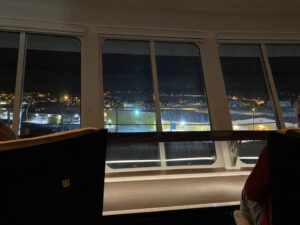 MS Nordnorge, Blick aus dem Panoramafenster auf Deck 4