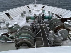 Bug MS Nordnorge Winden für Anker und Poller