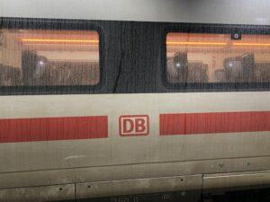 Eisenbahnwagon der Deutschen Bahn