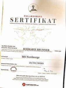 Zertifikat Polarkreis überquert